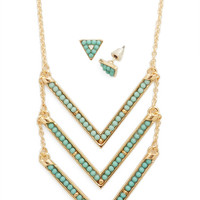ModCloth Boho Redeem Your Points Earrings and Necklace Set