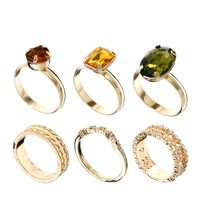ASOS | ASOS Eastern Princess Stack Ring Pack at ASOS