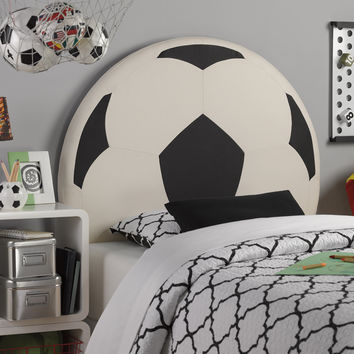 Powell Upholstered Soccer Ball Twin Headboard