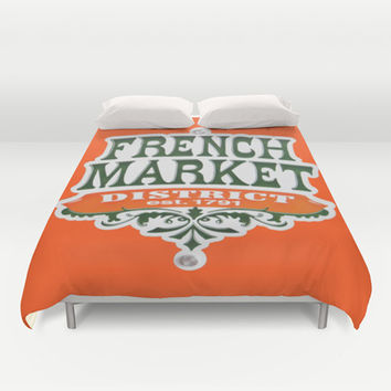 Signs: The French Market Duvet Cover by Legends of Darkness Photography