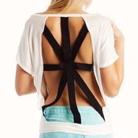 graphic-cross-tee WHITE - GoJane.com