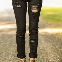 Gossip Girl Denim Collection-Shredded Black