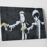 Pulp Fiction by Banksy Gallery Wrapped Canvas Print