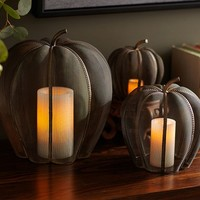 Mesh Pumpkin Candle Cages