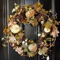 Outdoor Harvest Pumpkin Decor