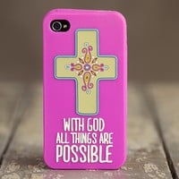 With  God  iPhone  4  Cover  From  Natural  Life