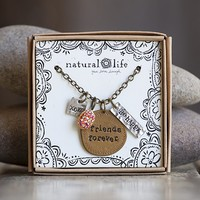 Friends  Forever  Junk  Market  Token  Necklace  From  Natural  Life