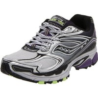 Saucony Women`s Progrid Guide TR4 Trail Running Shoe,Silver/Black/Purple,10.5 M US