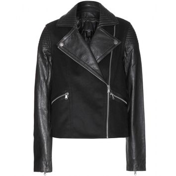 marc by marc jacobs - karlie wool and leather jacket