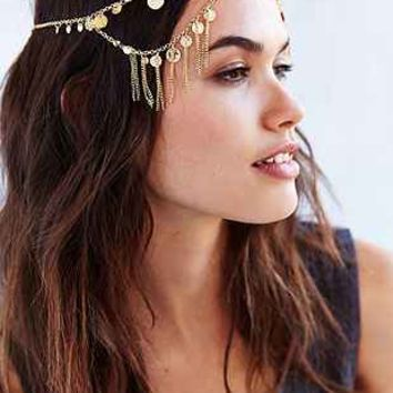 Coins + Chains Goddess Headwrap - Urban Outfitters