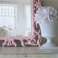Beautiful Shabby Chic Pink Mirror