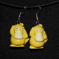 Pokemon Jewelry:  Psyduck Earrings