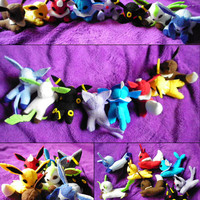 Pokemon Eeveelution Mini Plush: Full Set