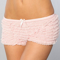 The Flapper Lace Ruffle Panties in Pink