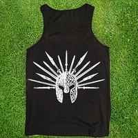 spartan Casual Wear Sporty Cool Tank top Funny Tank Cute Direct to garment