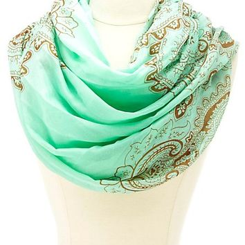 Paisley Print Infinity Scarf by Charlotte Russe