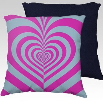 Hearts Pillow by Ornaart (18x18 pillow)