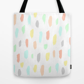 candy rain Tote Bag by austeja saffron