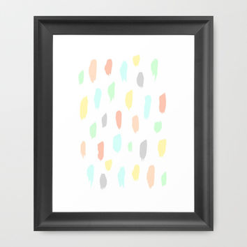 candy rain Framed Art Print by austeja saffron