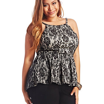 Lace High Low Peplum Top | Wet Seal+