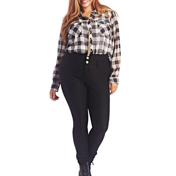 3 Button Skinny Pant | Wet Seal+
