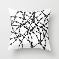 Trapped Black on White Throw Pillow by Project M | Society6