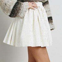 Free People Benson Vegn Leather Skirt