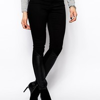 2nd Day Jolie Skinny Jeans with Leather Inserts