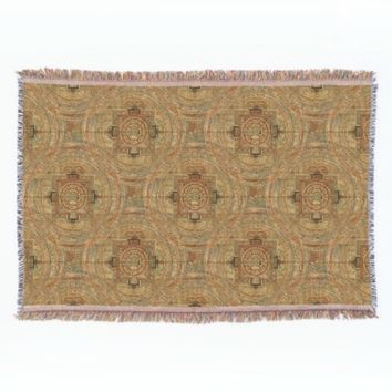 Tibetan Mandala Throw Blanket