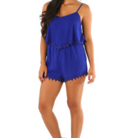 Who's That Girl Romper: Royal Blue