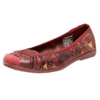 Gola Women`s Note Flat,Burgundy,9 M US