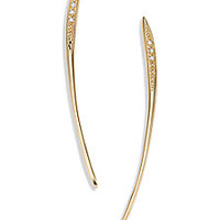 Mizuki - Icicles Diamond & 14K Yellow Gold Long Curved Slice Linear Earrings - Saks Fifth Avenue Mobile