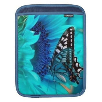 Butterfly Blue iPad Sleeve
