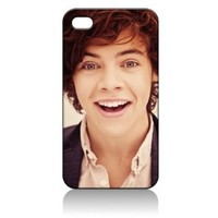 Harry Styles One Direction Hard Case Cover Skin for Iphone 4 4s Iphone4 At&t Sprint Verizon Retail Packing:Amazon:Sports & Outdoors