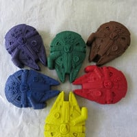 Large Millennium Falcon Crayon Set of 8