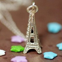 Sterling Silver Eiffel Tower Necklace