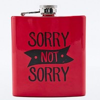 Sorry Not Sorry Hipflask - Urban Outfitters