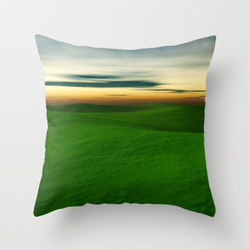 Rolling Hills Throw Pillow by Texnotropio