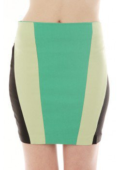 MINT COLORBLOCK SKIRT @ KiwiLook fashion
