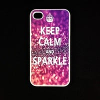 Iphone 4 Case - Keep Calm Sparkle I.. on Luulla
