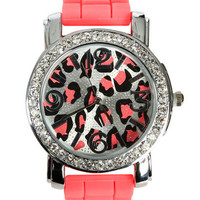Bright Leopard Rubber Watch | Shop Trending Now at Wet Seal