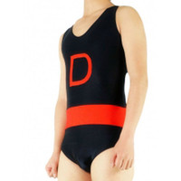 Catsuits & Zentai Lycra Spandex Black And Red Sleeveless Catsuit [TSE110152] - $36.99