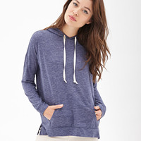 Heathered Knit Batwing Hoodie