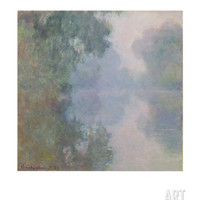 The Seine at Giverny, Morning Mists, 1897 Art Print by Claude Monet at Art.com