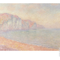 Falaises de Pourville, Le Matin, 1897 Art Print by Claude Monet at Art.com