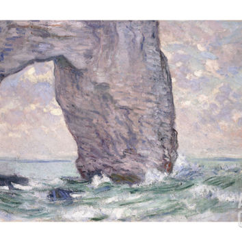 The Manneporte Seen from Below, 1883 Giclee Print by Claude Monet at Art.com