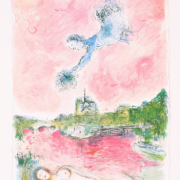 Pink Opera-Opera Rose Collectable Print by Marc Chagall at Art.com