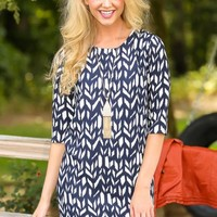 EVERLY:Decision Made Dress-Navy