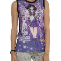 Sailor Moon Sailor Saturn Japanese Sublimation Girls Top