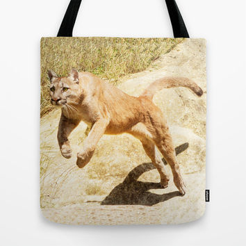 ACTION PUMA Tote Bag by Catspaws | Society6